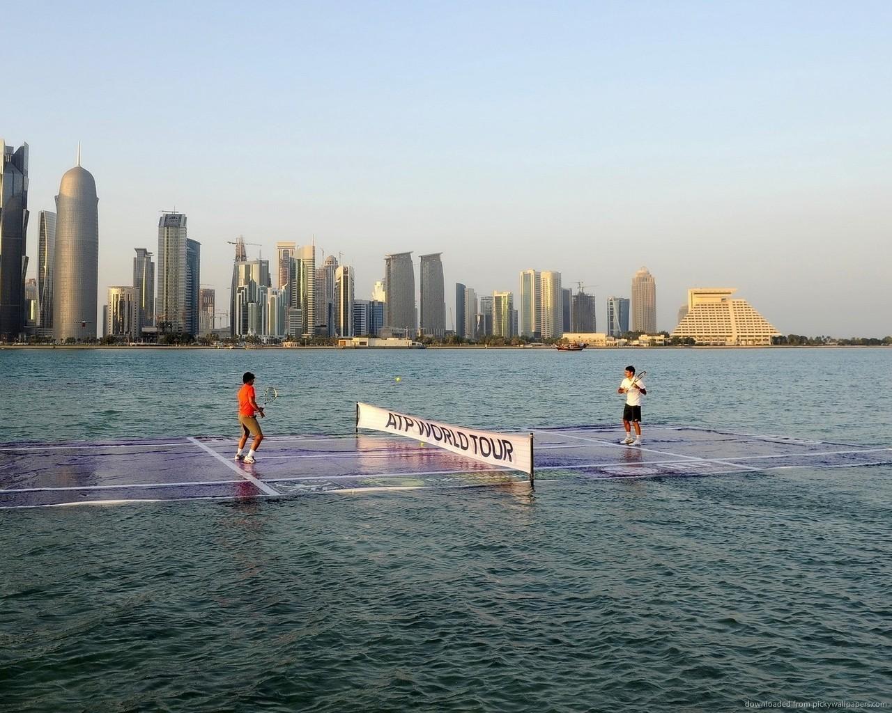 tennis-court-in-the-water-qatar